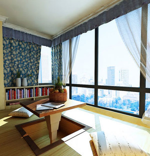 俯瞰风景的飘窗设计装修效果图