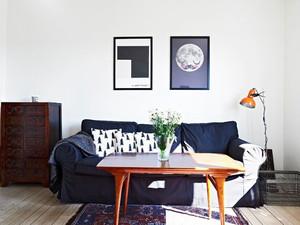 50平米北欧简约与古典相撞击的公寓装修设计