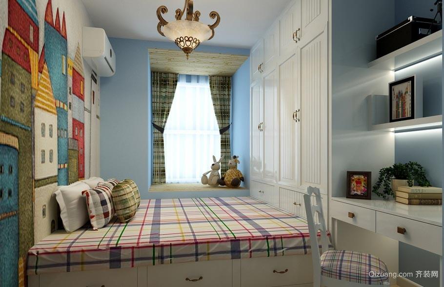舒适精致的三室一厅榻榻米卧室装修效果图
