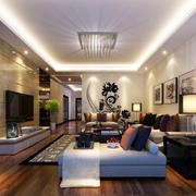 房屋简约客厅吊顶设计