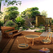 庭院桌椅设计