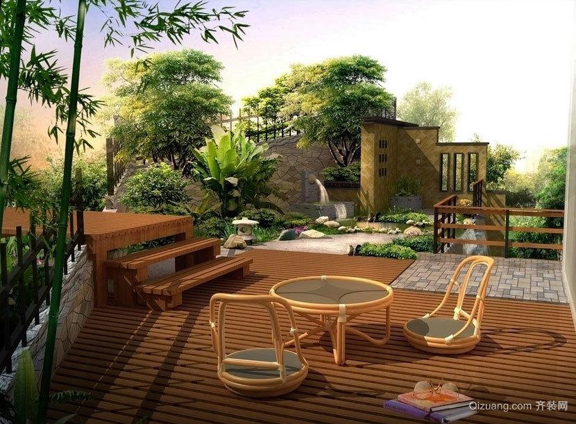象征美好生活的别墅庭院设计效果图素材大全