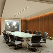 会议室原木墙壁设计