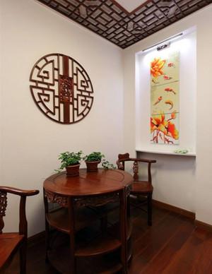 2015现代时尚餐厅红木餐桌装修效果图素材大全