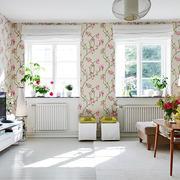 公寓客厅壁纸装饰效果图