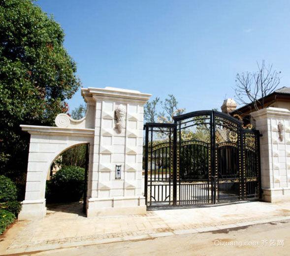 专为别墅设计的大气、奢华的别墅门装修效果图