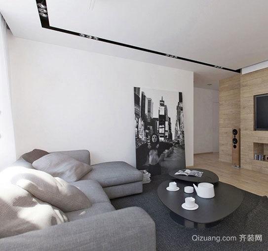 现代时尚有质感的90平方公寓装修效果图