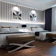 酒店卧室背景墙装修
