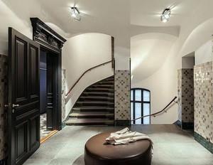 复式楼北欧风格旋转楼梯装修效果图
