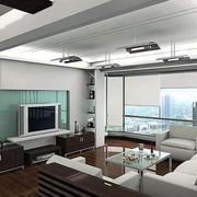 现代简约客厅装潢设计