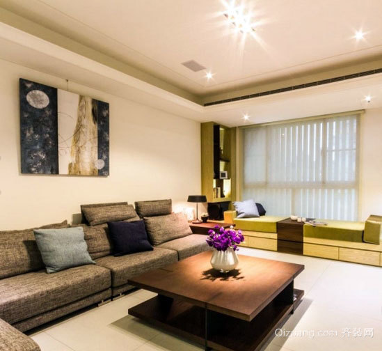 浓浓的日式气质 90平方小户型家装装修效果图案例