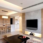 原木搭配电视墙设计