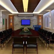 会议室桃木桌凳设计