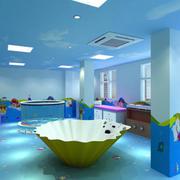 游泳馆贝壳型浴缸装修