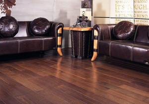 带有自然气息的客厅生态木地板装修效果图