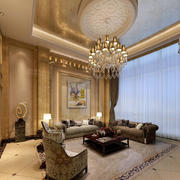 欧式大型客厅灯饰效果图