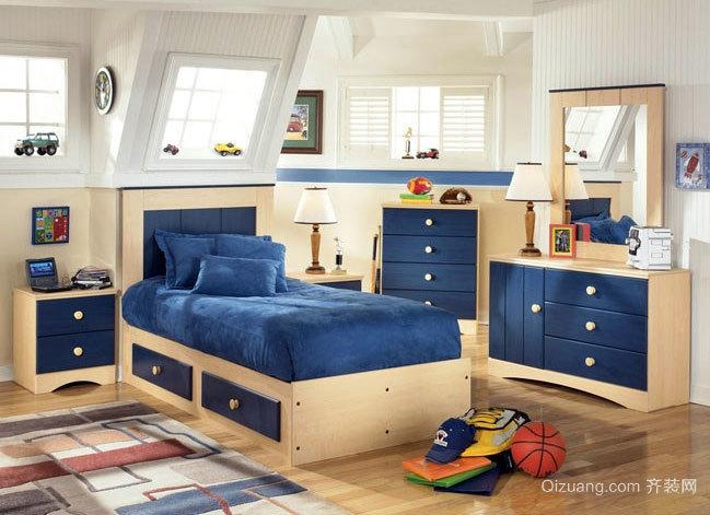 时尚三室一厅儿童房卧室榻榻米装修效果图