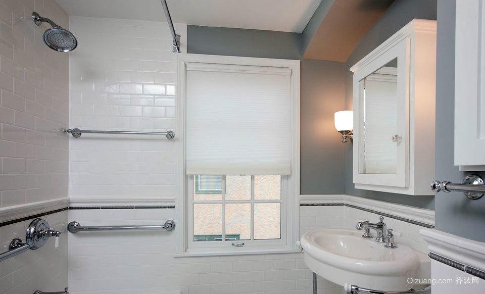 大户型白色系列洗手间设计装修效果图