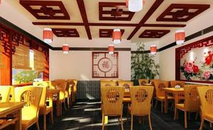 古典与现代的碰撞:中式餐馆装修效果图图集