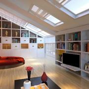 阁楼电视背景墙设计