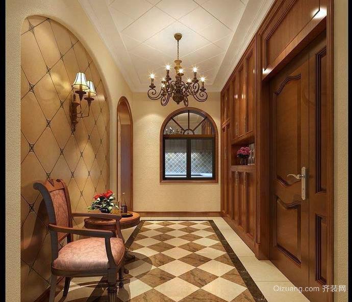 三室两厅大户型美式玄关设计效果图一览