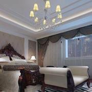 美式卧室大型飘窗设计