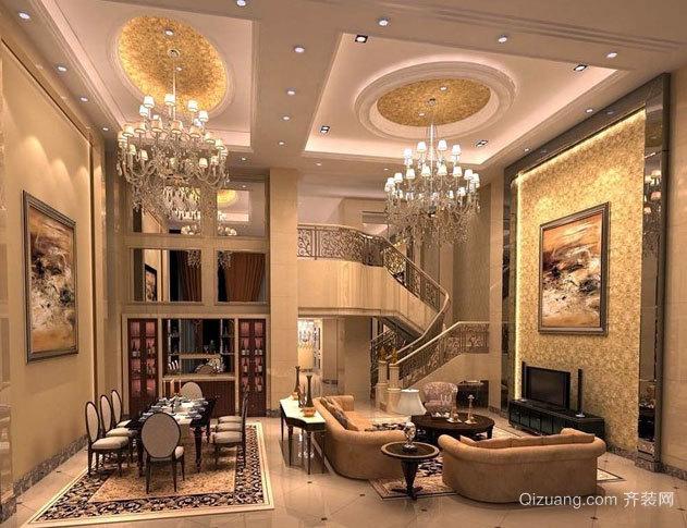 高档豪华的别墅楼梯设计效果图素材大全