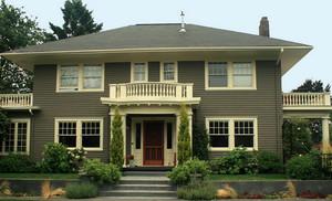 小别墅外墙灰色粉刷