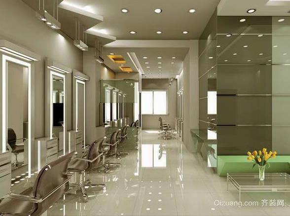 平米现代都市 美发店 室内 装修效果图 展示 齐