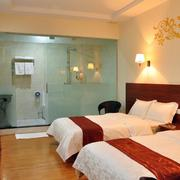 酒店卧室双人床装修