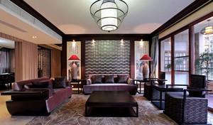 110平米大户型恢宏大气中式客厅装修效果图