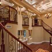 原木楼梯扶手设计