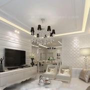 客厅石膏板背景墙设计