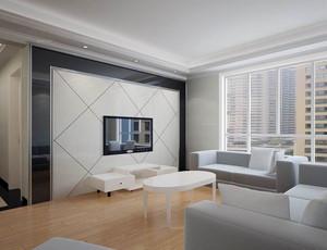 单身公寓现代简约风格电视背景墙装修效果图欣赏