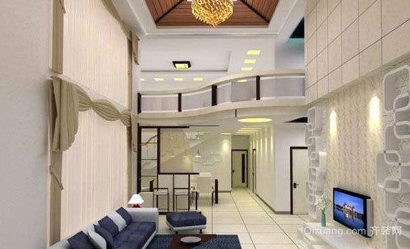 中式风格80平米小复式楼装修效果图