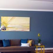 蓝色室内墙面漆效果图