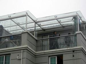 玻璃雨棚装修效果图大全