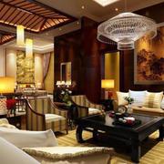 中式创意客厅灯饰设计