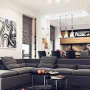 新房灰色沙发设计