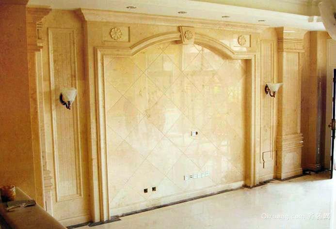 现代欧式客厅大理石背景墙装修效果图图集