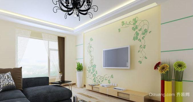 关爱家人 环保硅藻泥电视背景墙