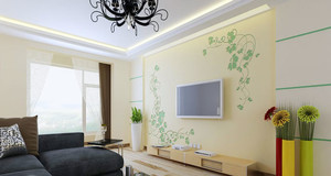 现代简约风格背景墙