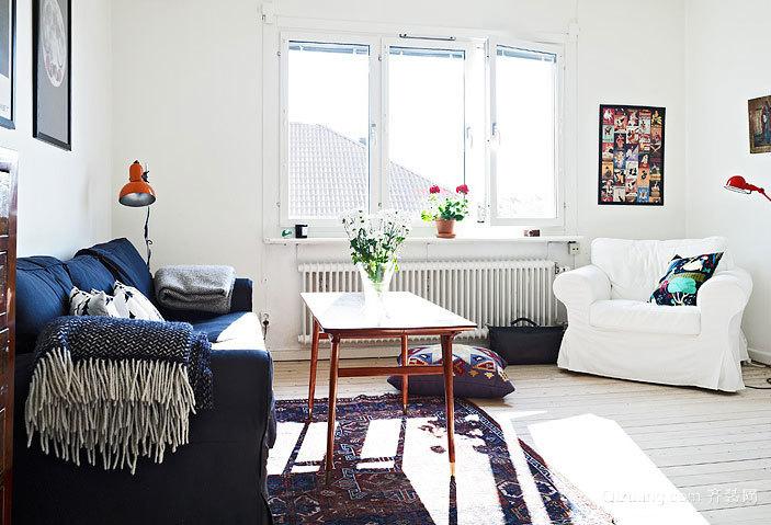 50平米小户型混搭风格公寓装修效果图