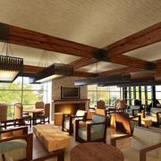 咖啡厅复古风格吊顶