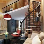 复式木装旋转楼梯