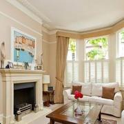 美式客厅飘窗设计