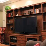 原木整体电视柜装修