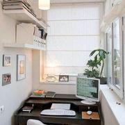 现代简约阳台书房设计