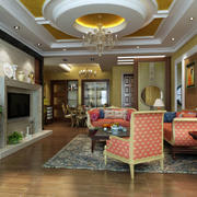 欧式客厅桌椅设计