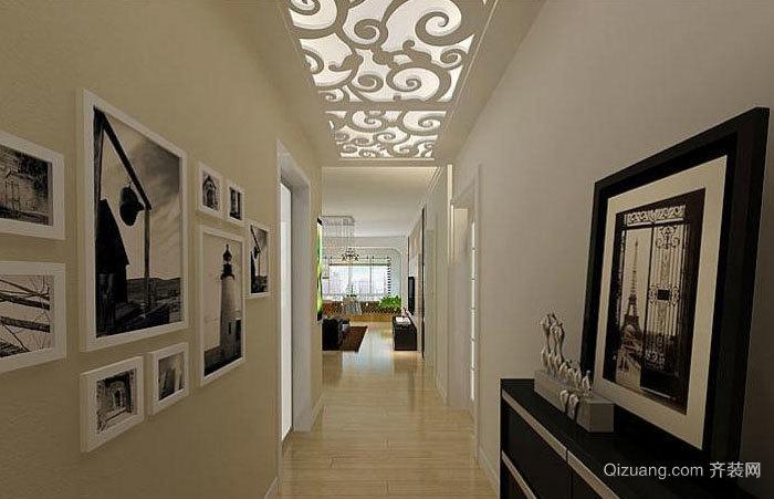 别墅个性美空中玻璃走廊吊顶装修效果图